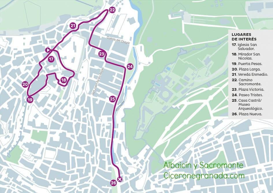 Itinerario Albaicín y Sacromonte al atardecer