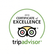 Cicerone, Certificate of Excellence in Tripadvisor for 5 years in a row
