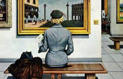 cuadro de mujer en el museo