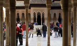 lions courtyard in the alhambra
