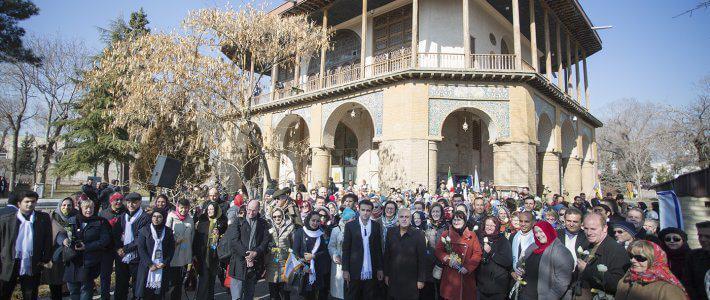 Cicerone en Irán en la convención de la Federación Mundial de Guías