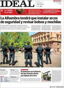 Seguridad accesos Alhambra