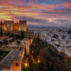 La Alhambra, nominada al atardecer más bello