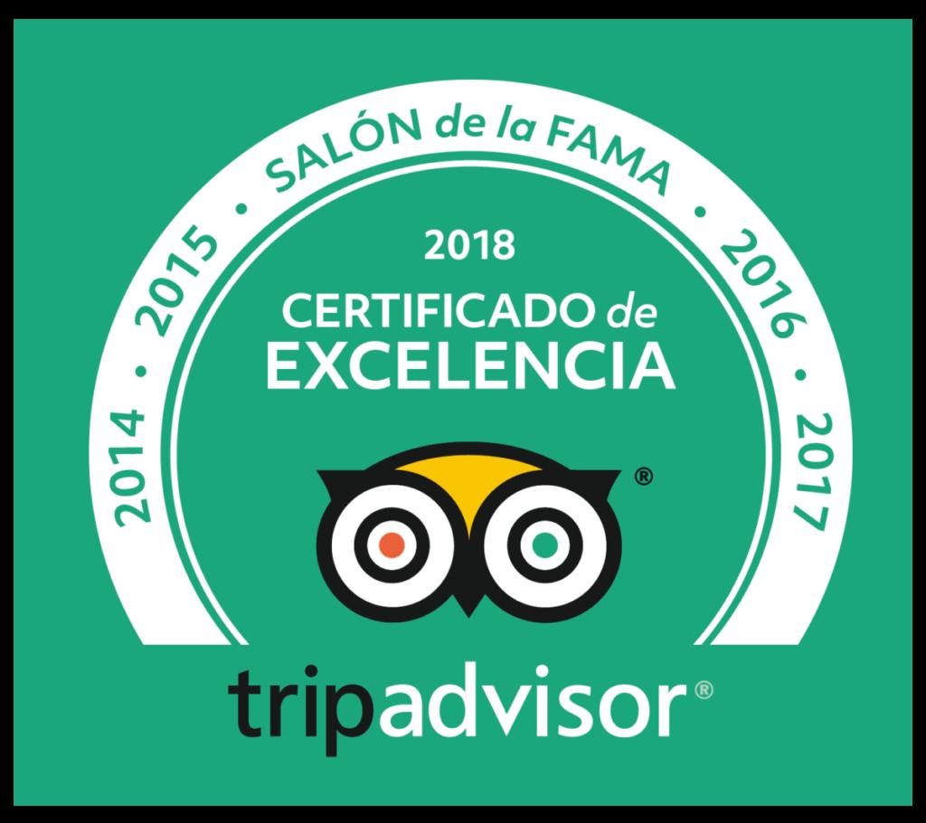 certificado de excelencia 2018 Cicerone