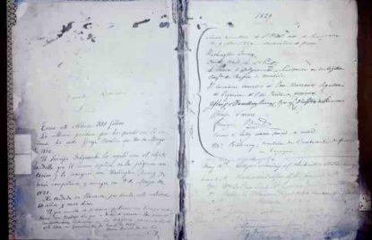 firmas en los primeros libros de firmas de la Alhambra