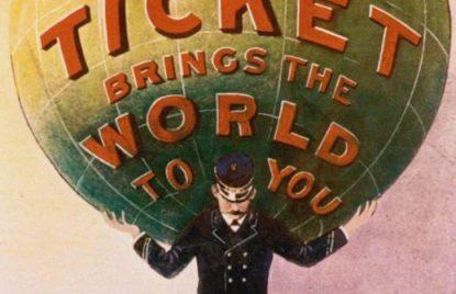poster de primeros viajes Thomas Cook
