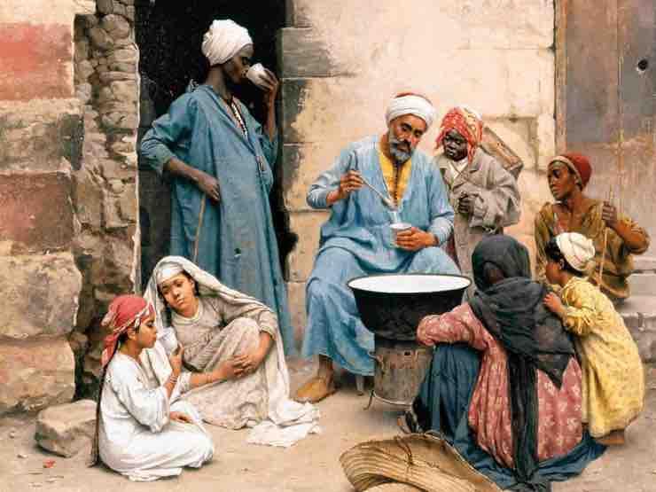 People eating at Ziryab times