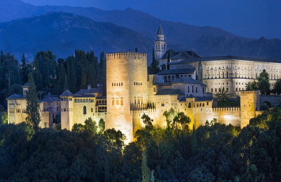 Alhambra night view