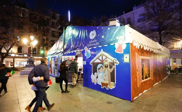 Christmas market in granada
