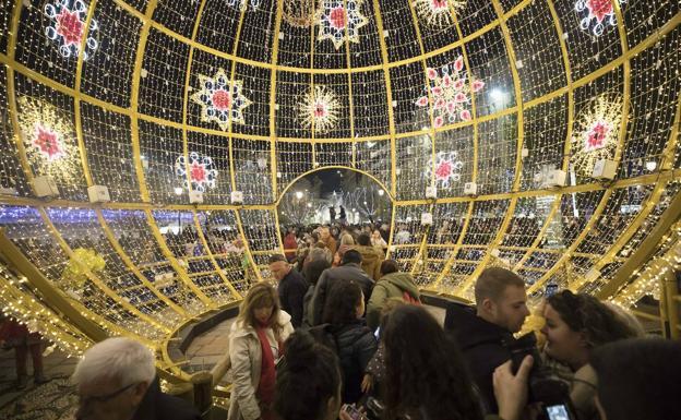Christmas ball in Granada