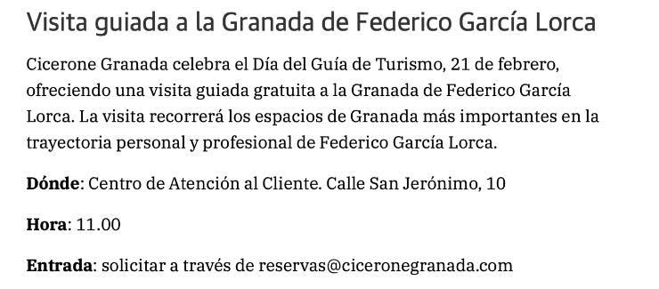 visita guiada federico García Lorca en granada en Ideal