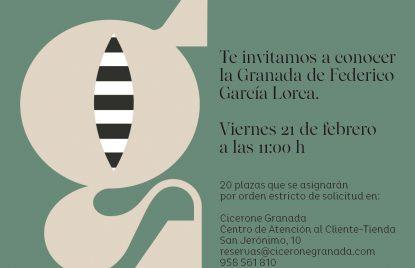 cartel visita guiada Federico García Lorca en Granada guía de internacional de turismo