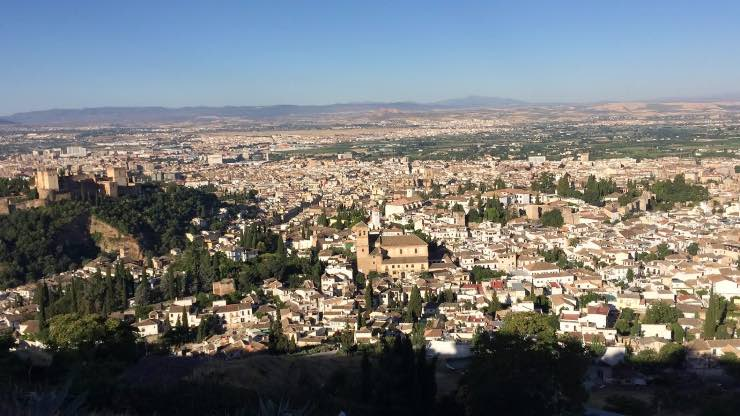 views from San Miguel alto viewpoint in granada