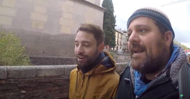 YouTuber el viaje de pirulo en la visita Granada misteriosa