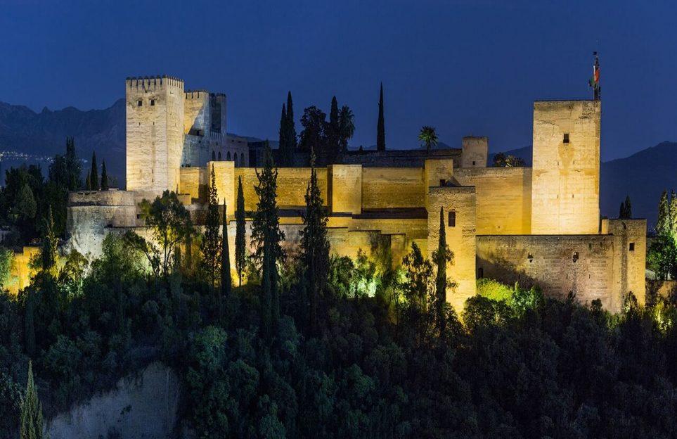 vista nocturna Alhambra