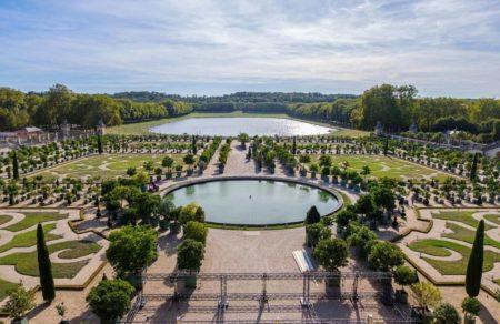 Vista jardines de Versalles