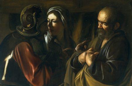 Cuadro La negación de San Pedro de Caravaggio