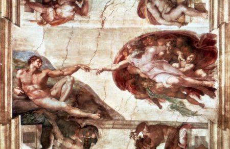detalle de imagen del techo de la Capilla Sixtina