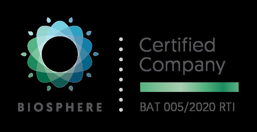 Distintivo certificación Biosphere