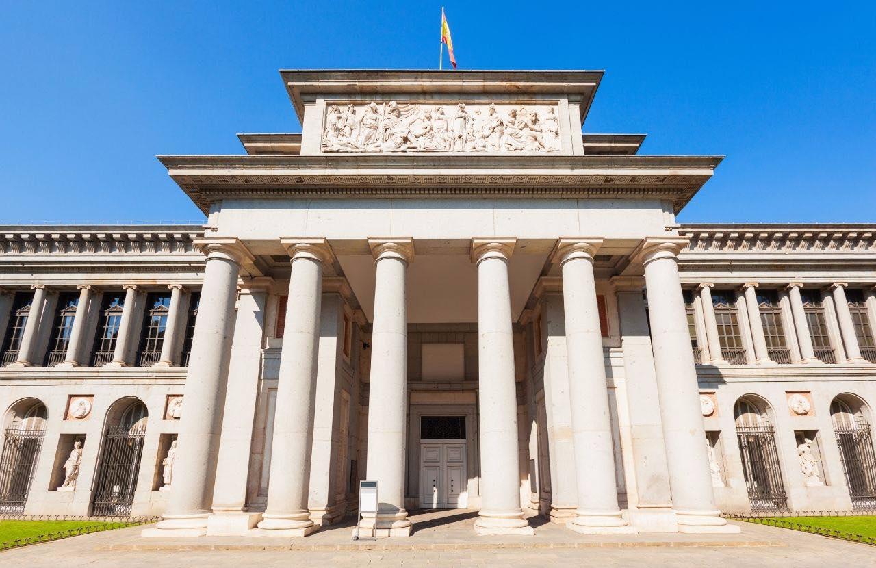 Parte frontal del Museo Del Prado