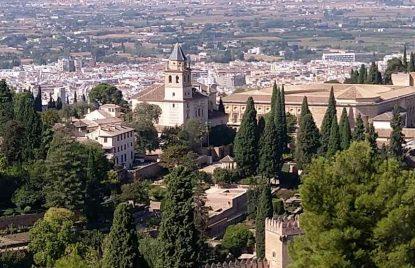 Vista de la Alhambra desde la silla del moro