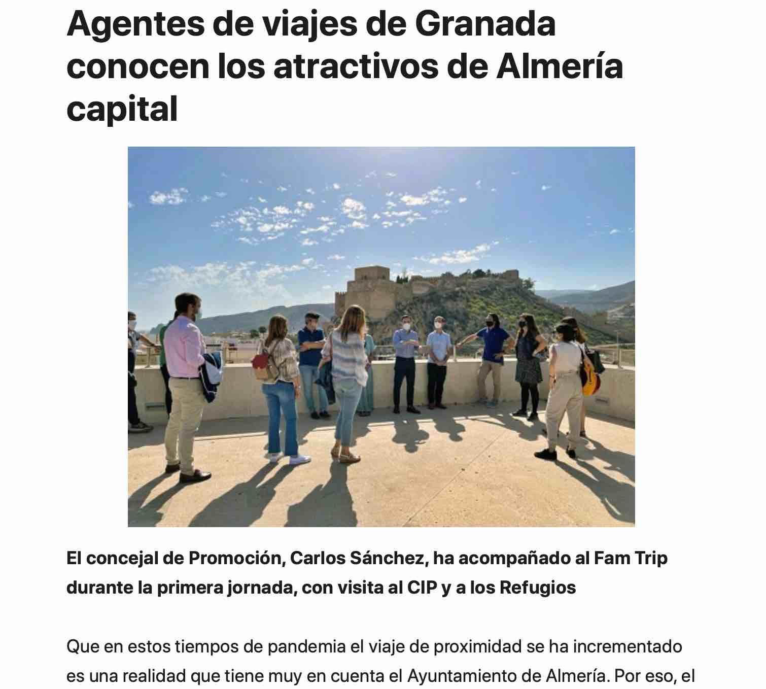 cierone participa en una famtrip con otros agentes de viajes de Granada