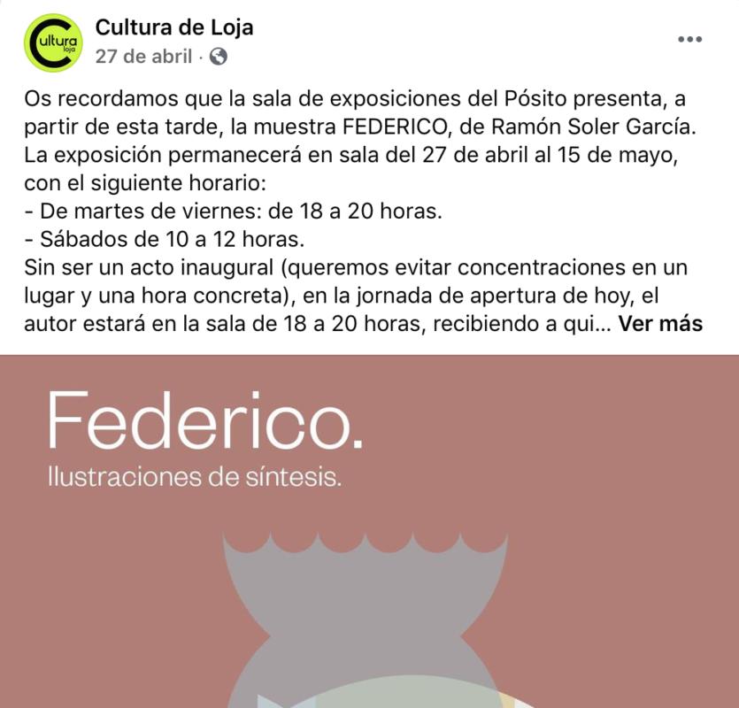 exposición de Ramón Soler ene Loja