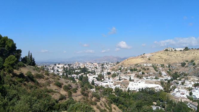 vistas desde la dehesa del Generalife