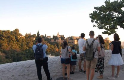 Views of the Alhambra from the Sacromonte neighborhood
