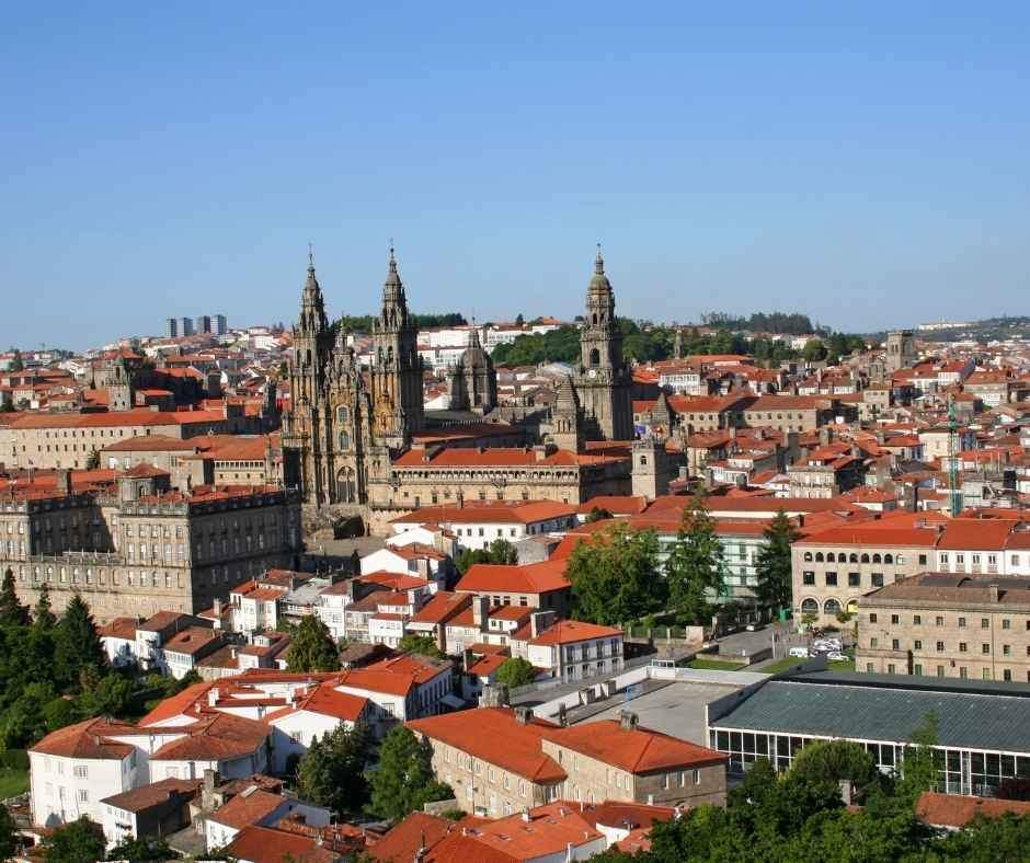 Panoramic views Santiago de Compostela