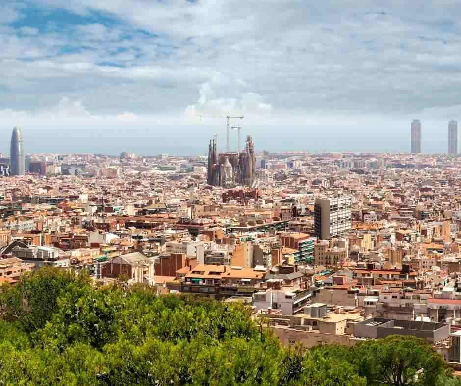 Barcelona panoramic views
