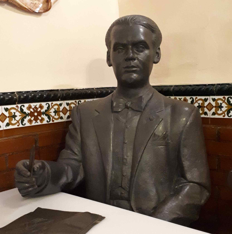 Federico García Lorca sculpture